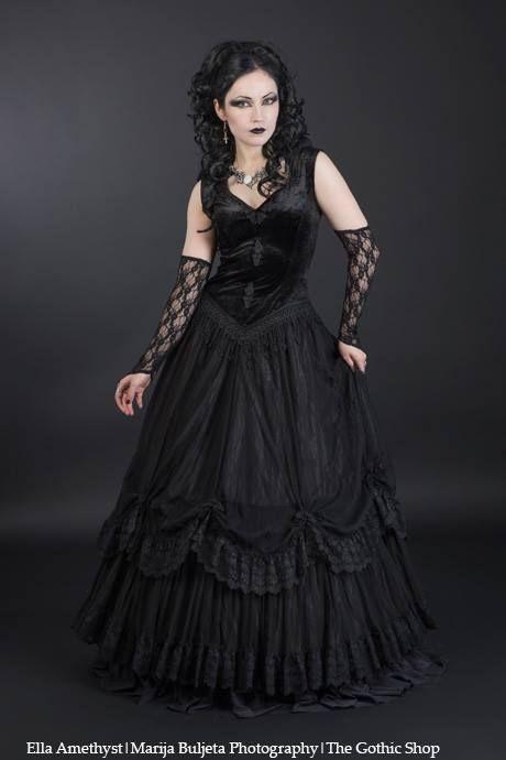Model: Ella Amethyst Photo: Marija Buljeta Photography Dress& Cuffs: Sinister - Jewelery: Alchemy Gothic for The Gothic Shop - www.the-gothic-shop.co.uk
