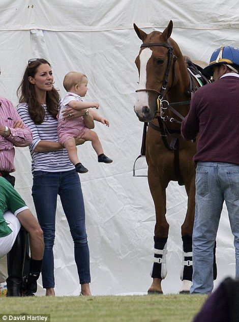 "Prince George is already thinking about Polo w/ his mummy Catherine "" Kate "" Duchess of Cambridge"