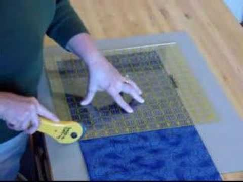 "Debbie Caffrey demonstrates her rotary cutting techniques called ""POWER CUTTING"" the most efficient and accurate way to cut fabric strips"