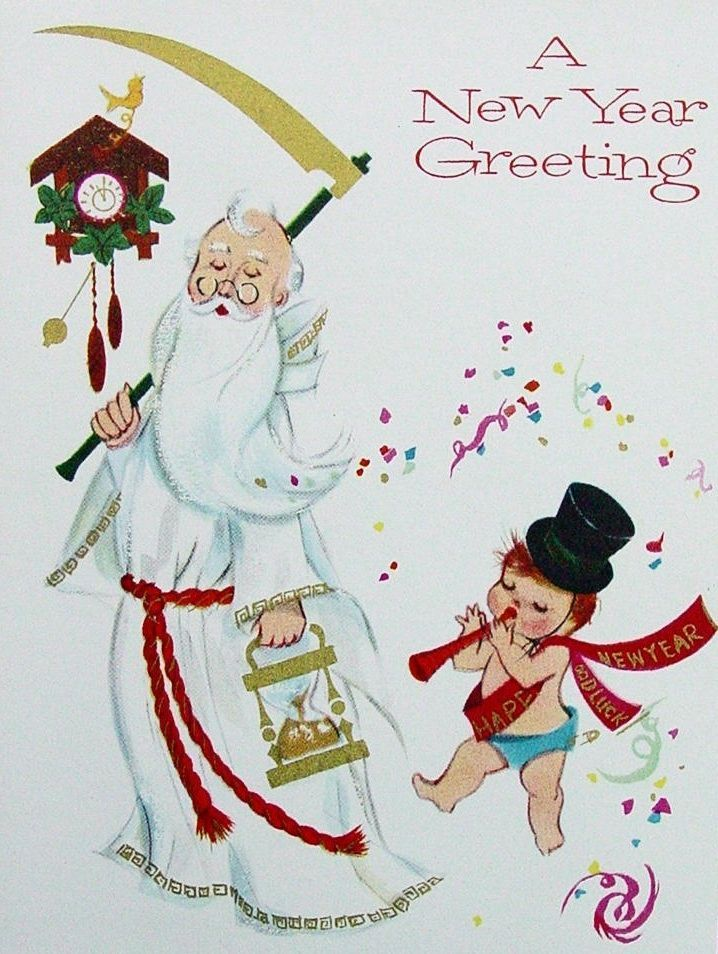 204 best Vintage Happy New Years Cards images on Pinterest | Vintage ...