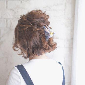 簡単なのに編み込み風 ねじってくるくる ロープ編み のヘアアレンジ術 キナリノ ヘアスタイリング ショートのヘアスタイル ヘアスタイル ロング