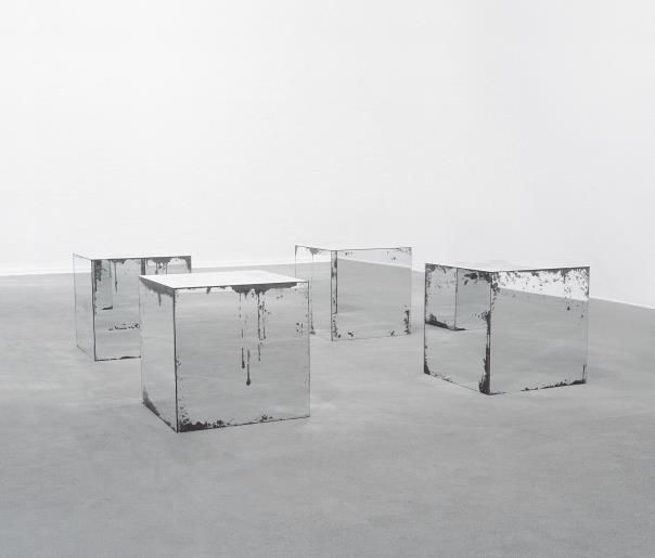 Gavin Turk, 'Robert Morris Untitled 1965-72,' 1990, distressed mirror plate glass and wood in four parts, each 76 x 76 x 76 cm