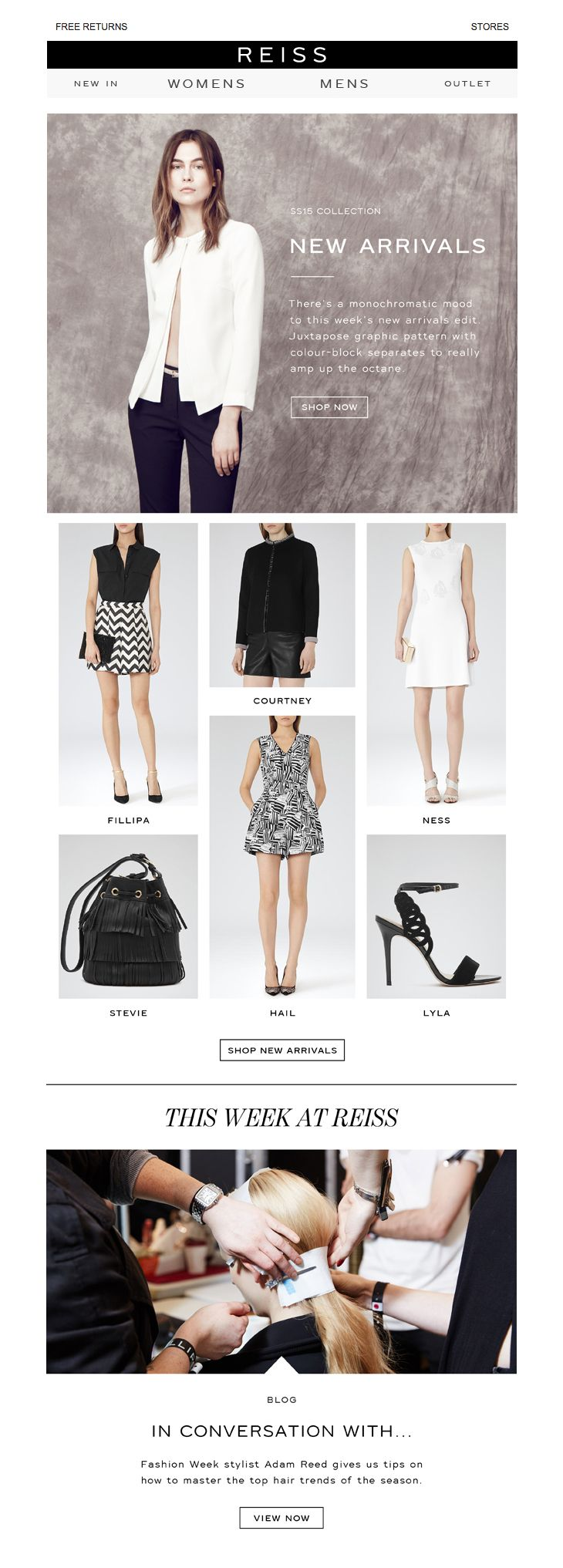 Reiss New Arrivals Email