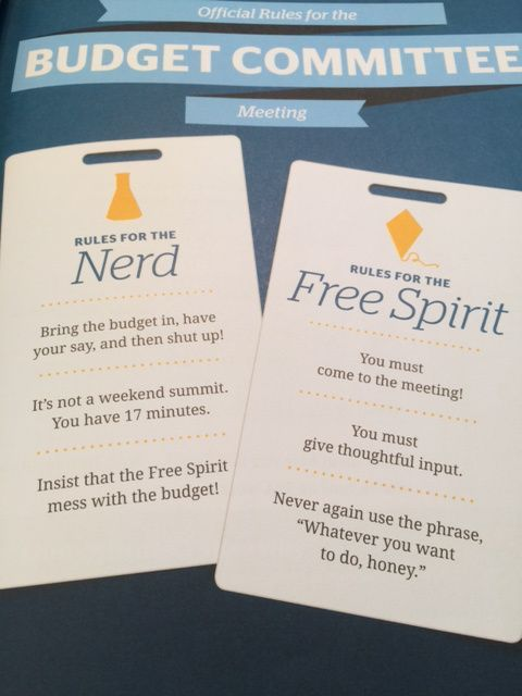 Dave Ramsey, Financial Peace University Class #2, Nerd, Free Spirit, budgeting, finances, working together with your spouse.
