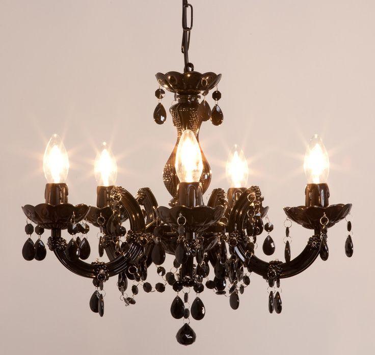 Lustre baroque avec pampilles 5 branches acrylique Arabesque