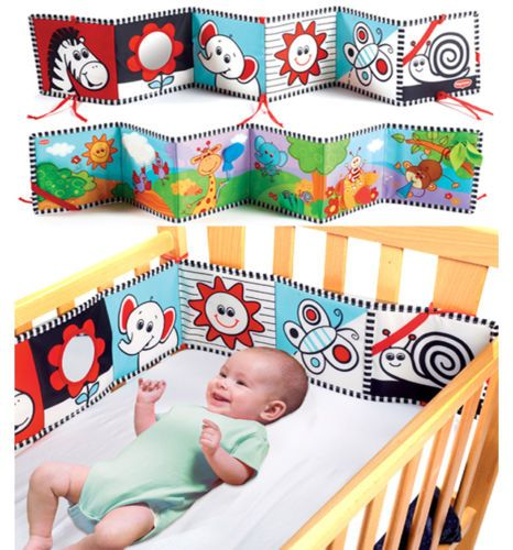 Cute Baby Cloth Crib Cognize Book Intelligence Developmental Toy Pram Nursery | eBay