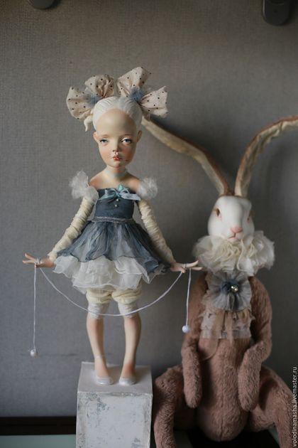 """Коллекционные куклы ручной работы. Заказать кукла """"Девочка с бантами"""". Володина Маша. Ярмарка Мастеров. Кукла, Ладолл"""