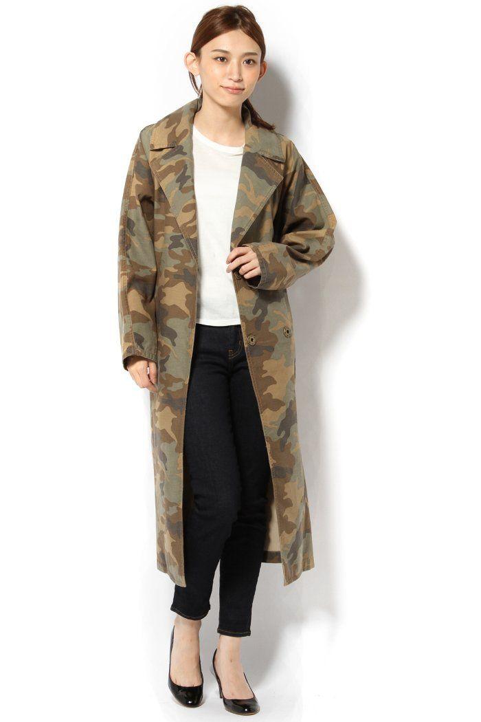 EDIT.FOR LULUの◇カモフラージュ ガウンコートを通販するなら ファッション通販 スタイルクルーズ(Style Cruise) 。EDIT. FOR LULUよりかっこいいカモフラージュ柄コートの登場!<br />さっと羽織るだけでスタイリングが決まります。<br />丈を長めにすることで、今シーズントレンドの膝下丈スカートにもぴったりなバランスに。<br />小柄な方でも着て頂けるバランスです。<br />コートにしては珍しく手洗い可能なところも嬉しいポイント。<br /><br />モデルサイズ:身長:168cm バスト:77cm ウェスト:60cm ヒップ:85cm 着用サイズ:フリー<br />