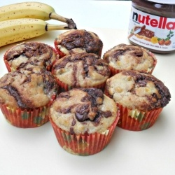 Banana Nutella Muffins by Hezzi-D