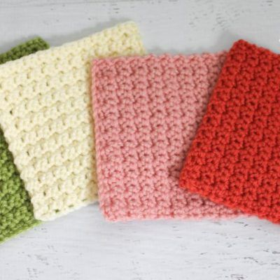Solid Granny Square Crochet Pattern (Grit Stitch)