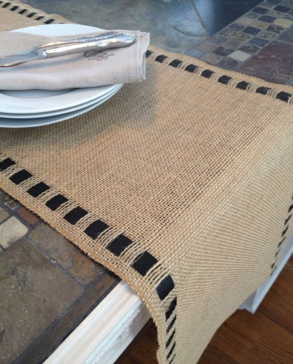 "Burlap Ribbon Table Runner - Premium Burlap - 12"" wide by 60"" long Natural Burlap - Holiday - Wedding or Party - burlap runners on Etsy, $27.75"