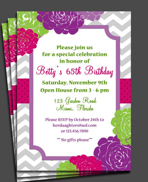 75 best adult party invitation styles images on pinterest party flowers in bloom invitation printable or printed with free shipping bridal shower wedding invitation birthday anniversary invitation stopboris Image collections