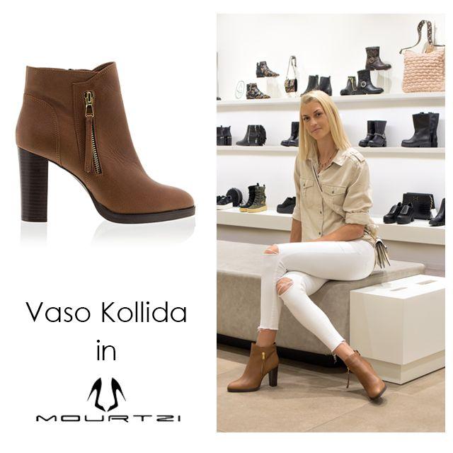 ΒΑΣΩ ΚΟΛΛΙΔΑ Vaso Kollida in Mourtzi #booties #fashion #Mourtzi #vasokollida