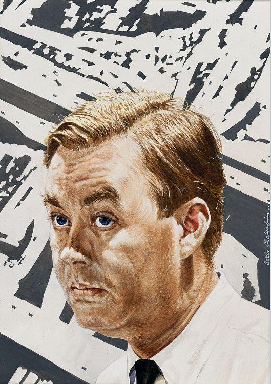 Daniel Patrick Moynihan by Boris Chaliapin, 1967.
