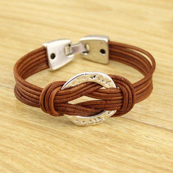Multi-Strand Leather Bangle Cuff / Wrist Belt men arm cuff - Men Gift /Mens…