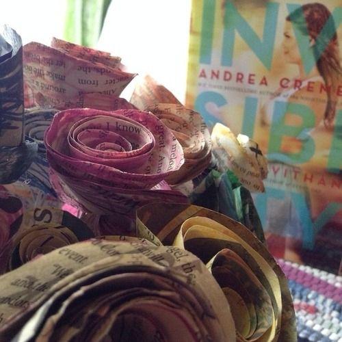 ofliterarynature:  Books & Cupcakes Book Photo Challenge - June Day 25: flowers.