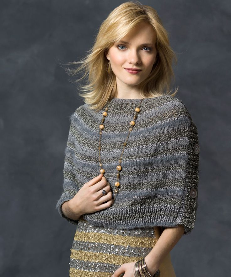 Buttoned Wrap by Cathy Payson | Free pattern for Red Heart