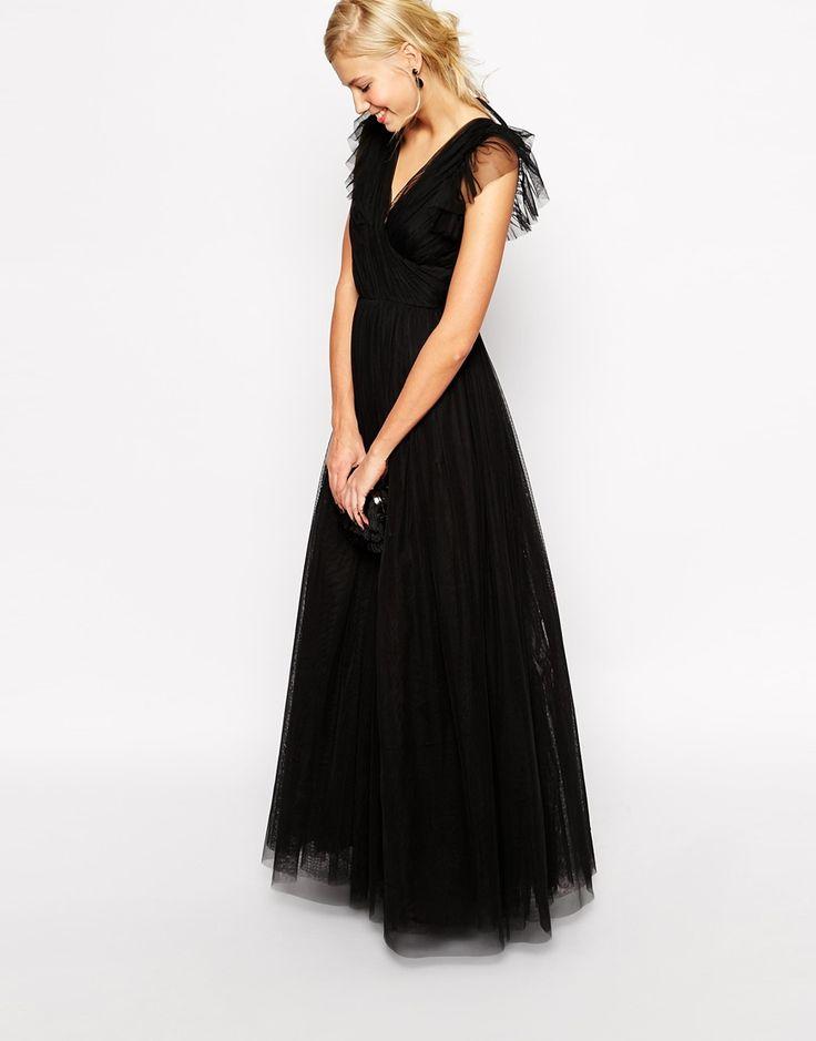 Immagine 2 di ASOS Grandi marche - Vestito lungo in tessuto a rete stile principessa