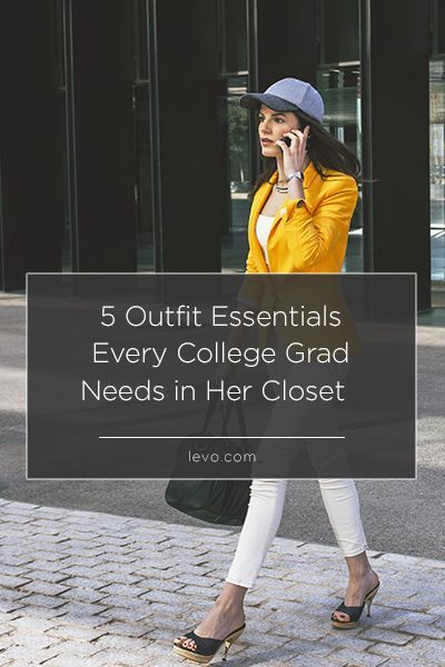 Stock your closet with these #essentials before graduation! www.levo.com