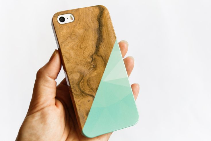 iPhone 6 Case Mint Geometric Wood Print iPhone 5 Case Faux Wooden iPhone 5S Case Triangle iPhone 6 Plus Case Popular iPhone 6  (23.00 USD) by JoyMerrymanStore