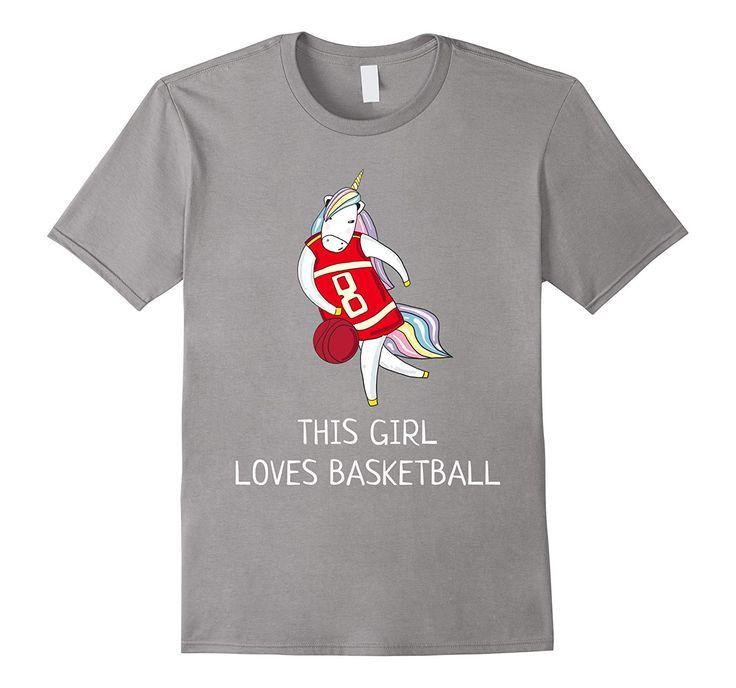 Unicorn Ma Dieses Mädchen liebt Basketball Witziges T-Shirt-TH – Produkte – #bas …  – Basketball Life