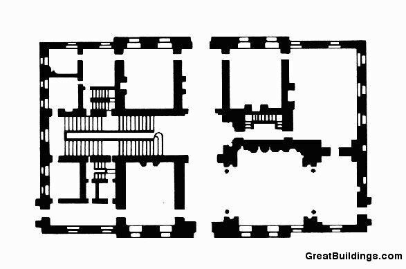 Easton Neston Plan Main Floor More Or Less As Hawksmoor