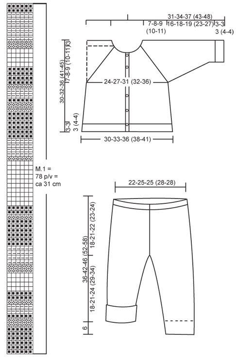 DROPS kofta, byxa och tofflor i Alpaca, gosedjur. ~ DROPS Design