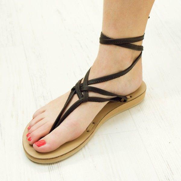 Brown Leather Tie Sandals | Sseko Designs