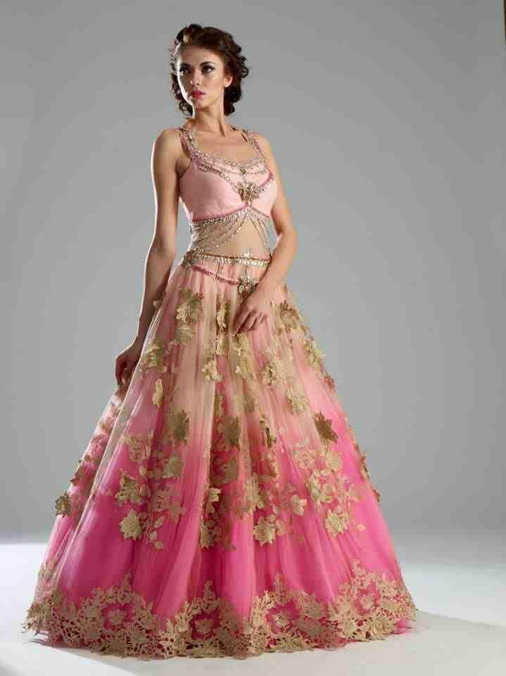 51 best pink wedding dress images on Pinterest | Homecoming dresses ...