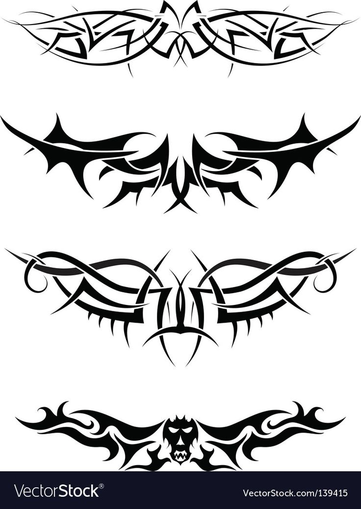 Tattoos set vector image on