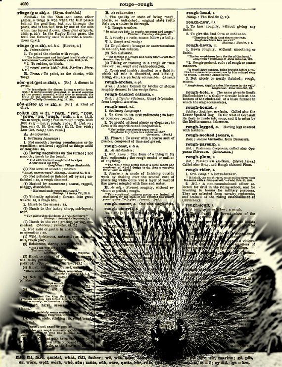 Hedgehog Dictionary Art Print Sleepy by reimaginationprints