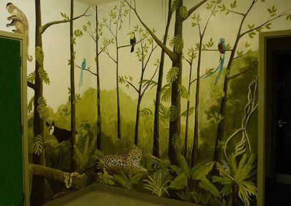 Beautiful Jungle   Kids Bedroom Decorating Ideas. Nursery Wall MuralsPainted  ... Part 91