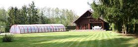 Luxe vakantiewoning te huur met privé zwembad, sauna en jacuzzi voor 8 personen in Herselt (Kempen, Antwerpen, België).