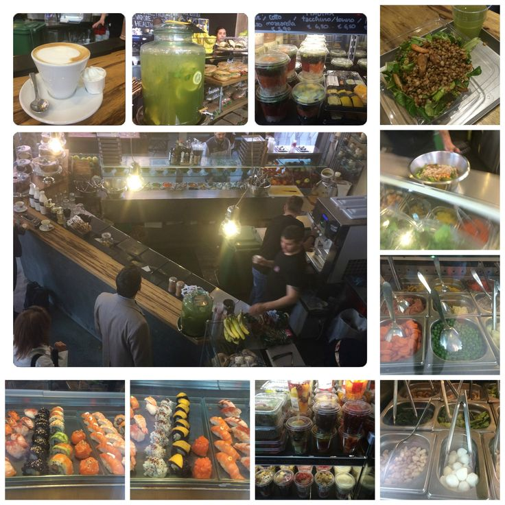 JUICEBAR Milano (IT) - I felt in love at first sight... NEED TO VISIT as soon as you come to a bigger italian city.... delicious and HEALTHY food - sandwiches, fresh yoghurts, salads  -you can choose ingredients and let your salad get ready according to your wishes...or choose from a lot of various completed mixed salads...excellent coffee... fresh matcha-tea...or unique sushi... LOOKING FORWARD TO VISIT THIS PLACE AGAIN ASAP !