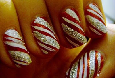 Nails idea for Christmas!Christmas Time, Holiday Nails, Sparkle Nails, Christmas Nails Art, Christmas Candies, Canes Nails, Nails Ideas, Candy Canes, Candies Canes
