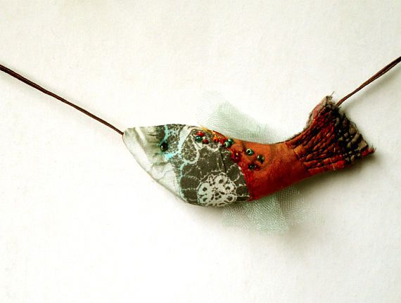 Hanging Colorful Fish Ornament for modern bohemian