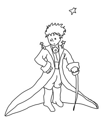 Click The Little Prince Coloring page for printable version
