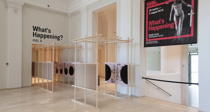 """Exhibition design for """"What's Happening?"""" at The National Gallery of Denmark (SMK) / Visit www.marialegaardkjeldsen.com for more, details and crediting."""