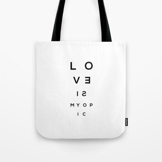 Love is myopic Tote Bag