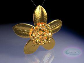 Rata Pod pendant ~ 47mm in Polished Bronze Steel