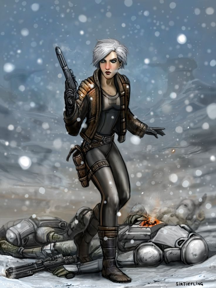Winter The Visitor By Sirtiefling Female Fighter Rogue