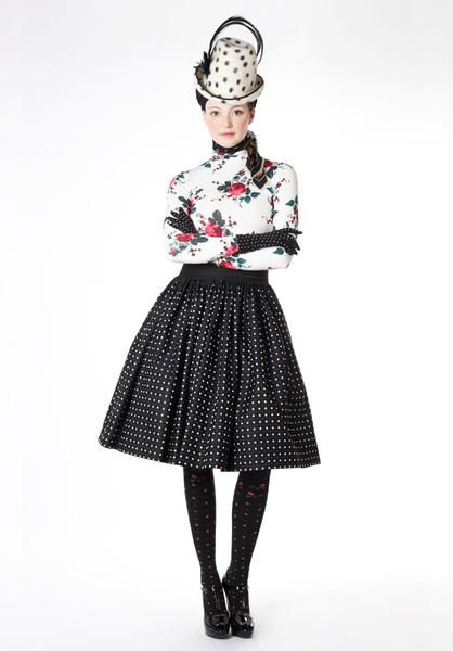 Great mix of fabrics, styles and fonts with Dirndl skirt as basis.