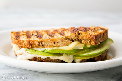 Gruyere, Apple, and Fig Jam Panini Recipe | Simply Recipes: Figs Jam, Gruyer Cheese, Cheese Paninis, Fig Jam, Paninis Recipe, Grilled Cheese, Apples, Simply Recipe, Jam Paninis