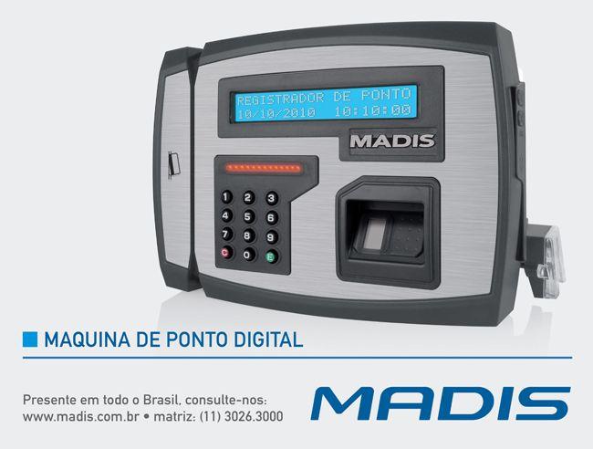 Alta tecnologia empregada pela MADIS faz da Máquina de Ponto Digital a solução para o controle de funcionários. Na MADIS você encontra soluções diversas em Máquina de Ponto Digital para a sua empresa.