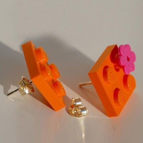 Orecchini arancio by vicolopagliacorta $24
