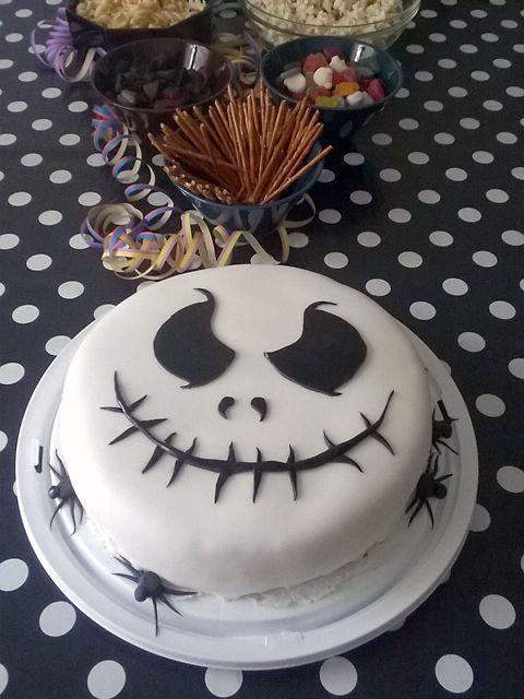 Nightmare before Christmas cake, Jack Skellington cake, 8th birthday