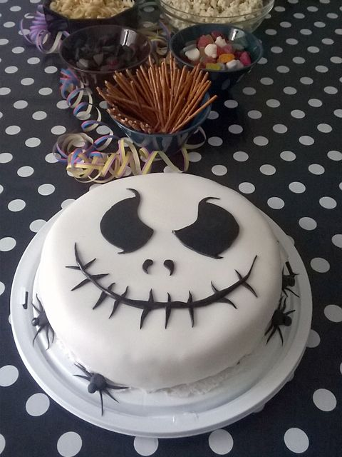 Nightmare before Christmas cake, Jack Skellington cake, 8th birthday