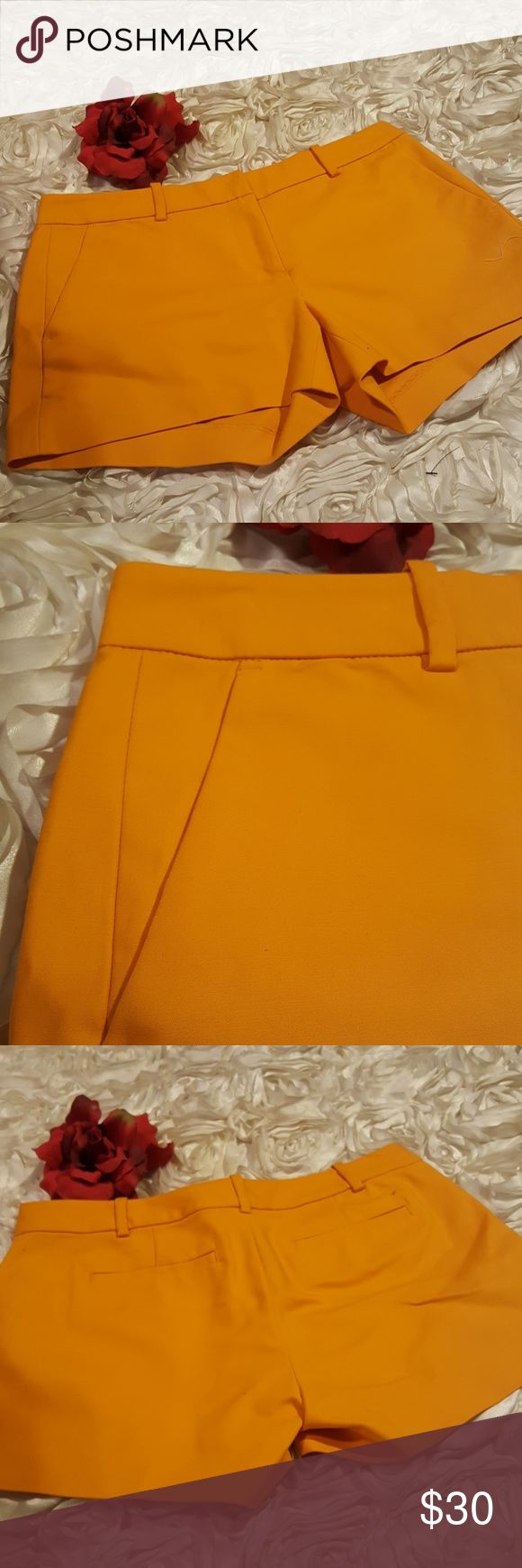 "Michael Kors Womens Orange Shorts This is a pair of womens Michael Kors shorts. Material is 97% cotton, 2% spandex.  Zip front closure.  Please view pictures for more details.  Size 2 Waist 15"" Hip 18' Length 10"" Front rise. 8"" Back rise 13"" Inseam 3"" Side seam. 10 1/2"" Michael Kors Shorts"