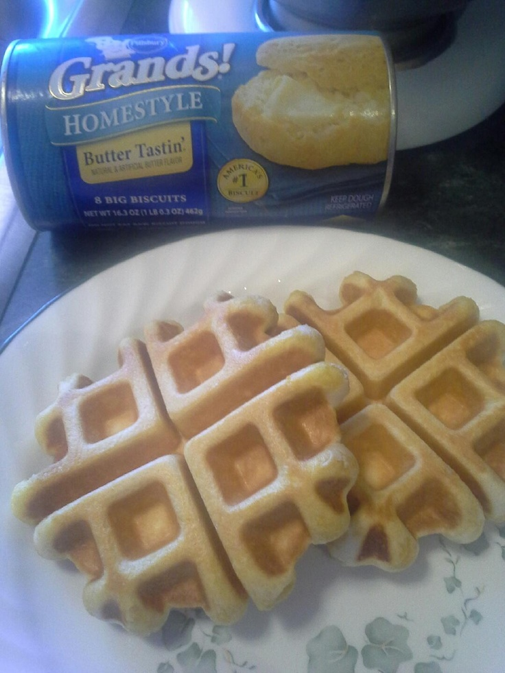 Biscuit Waffles Place on waffle iron, cook till desired doneness ...