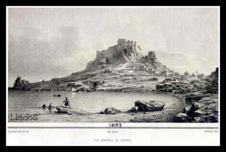 The Acropolis of Lindos and the village of Lindos. It has always been such a picturesque village!